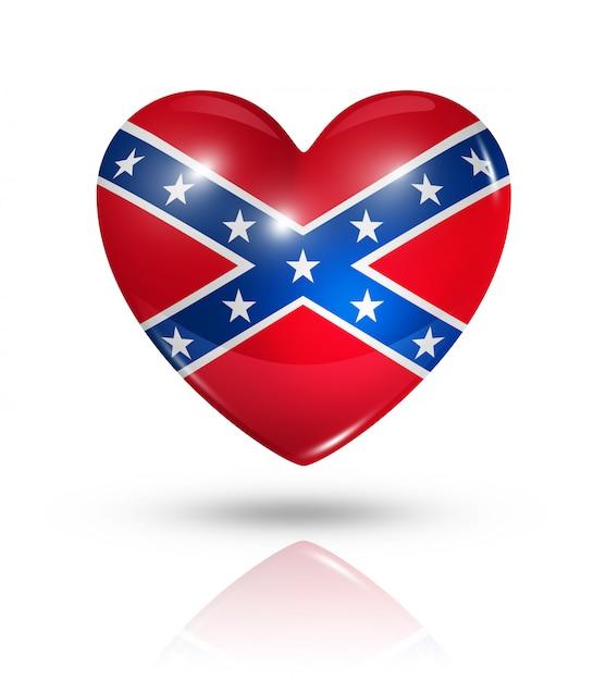 Liefde verbonden hart vlag, pictogram Premium Foto