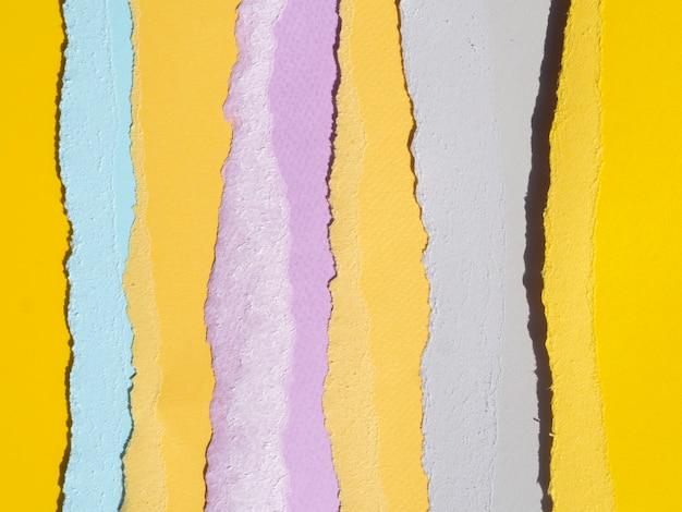 Lijnen van abstracte compositie met kleur papieren Gratis Foto
