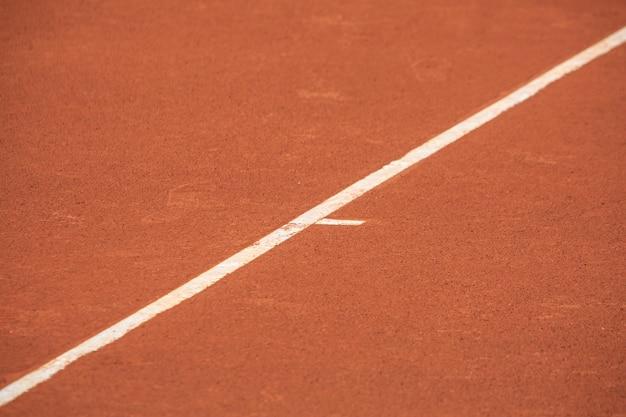 Limietlijn voor tennisbanen Premium Foto