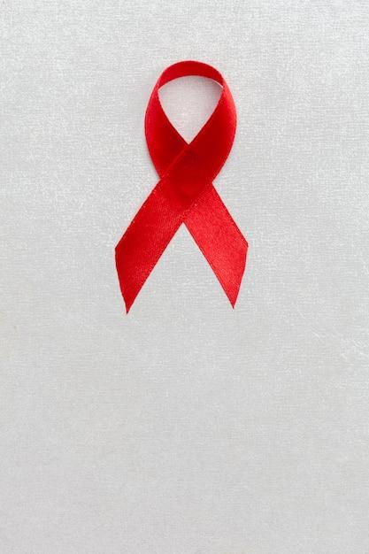 Lint als symbool van aids-bewustzijn Premium Foto
