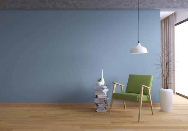 Loft en vintage interieur van het woonkamerontwerp en cosy living-stijl Premium Foto