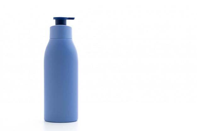 Lotion, crème of badgel fles op wit Premium Foto