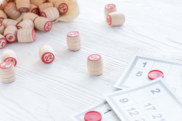 Lotto bordspel Premium Foto