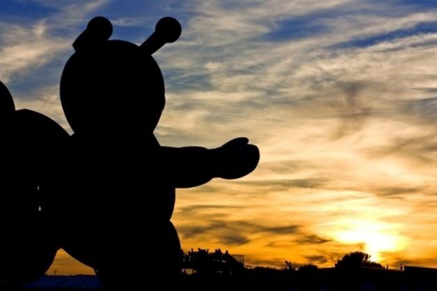 Luchtballon silhouet Gratis Foto