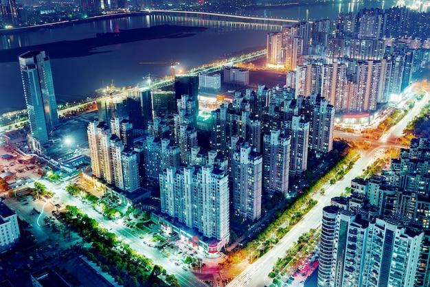 Luchtfoto van de stad Premium Foto