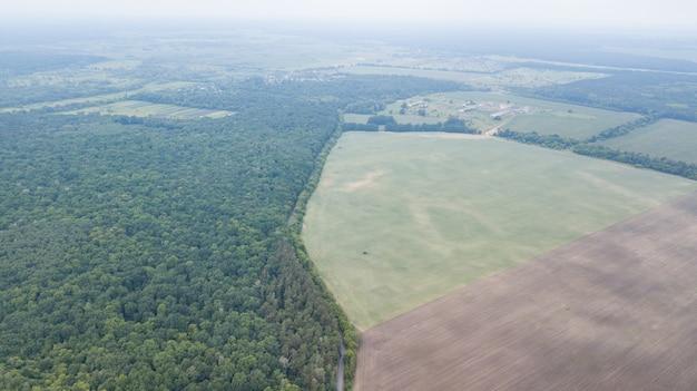 Luchtfoto van groen veld Premium Foto