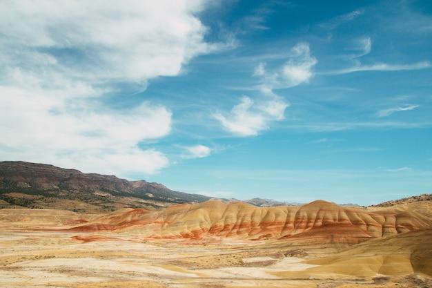 Luchtfoto van het john day fossil beds national monument in oregon, vs. Gratis Foto