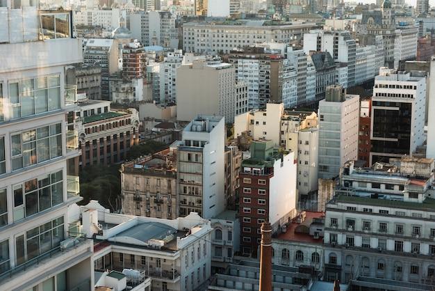 Luchtfoto van stedelijke ruimte Gratis Foto