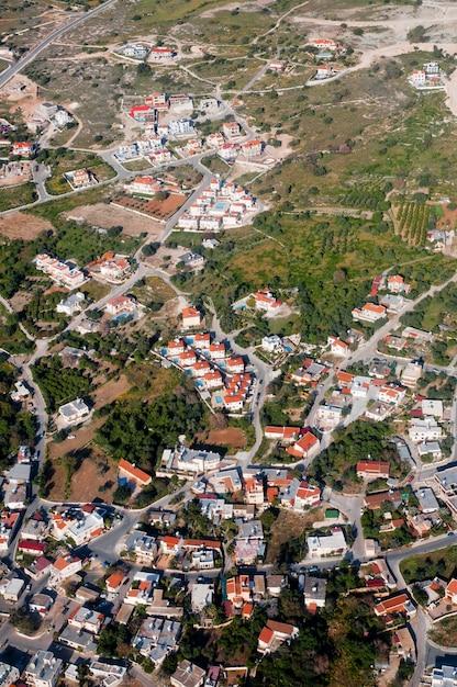 Luchtfoto van woonwijk Gratis Foto