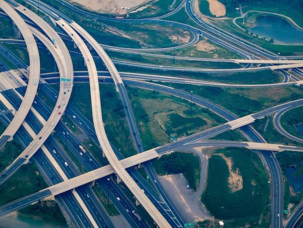 Luchtfoto waar i-295 voldoet aan i-495 - the washington beltway Gratis Foto