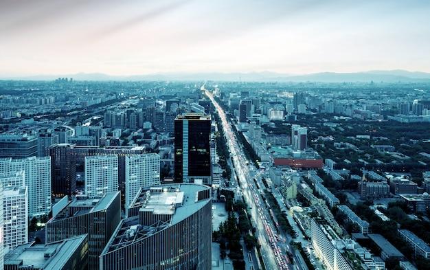 Luchtmening van peking Premium Foto