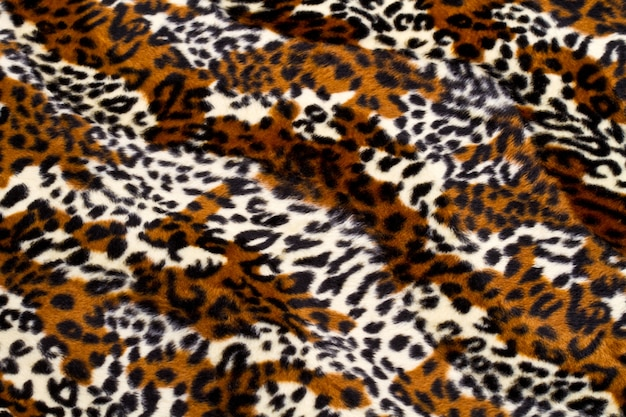 Luipaard huid patroon achtergrond Premium Foto