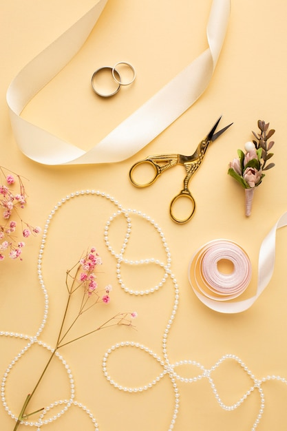 Luxe bruiloft concept arrangement Gratis Foto
