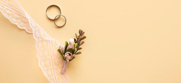 Luxe bruiloft concept kleine bladtak Gratis Foto