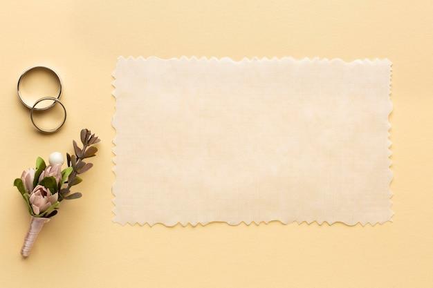 Luxe bruiloft concept kopie ruimte bruiloft papier Premium Foto