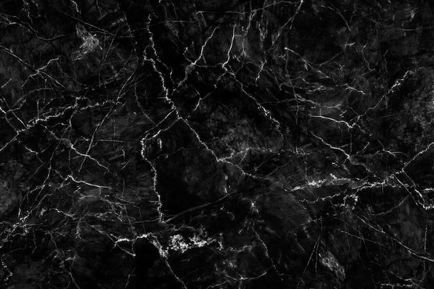 Luxe van zwarte marmeren textuur en achtergrond voor het kunstwerk van het ontwerppatroon. Premium Foto
