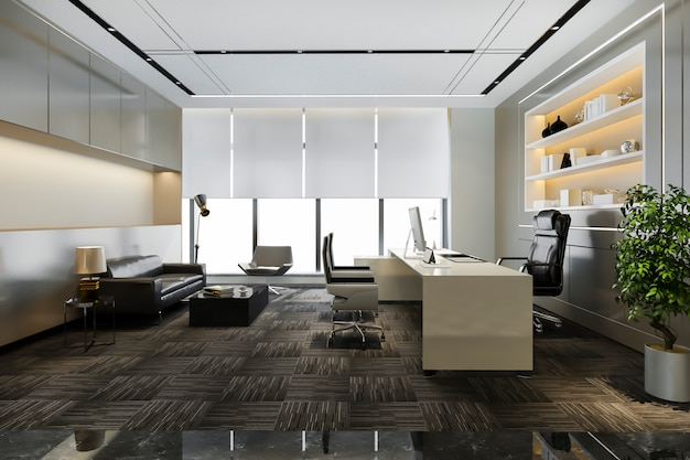 Luxe werkkamer in directiekantoor Gratis Foto