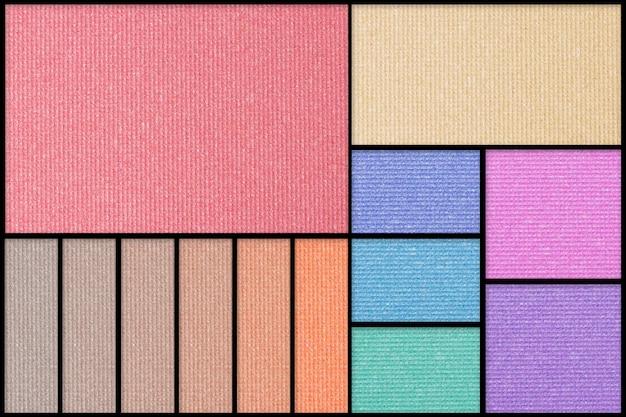 Maak palet van kleurrijke oogschaduw op Premium Foto