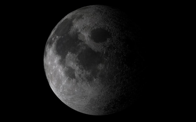 Maan aan de hemel Premium Foto