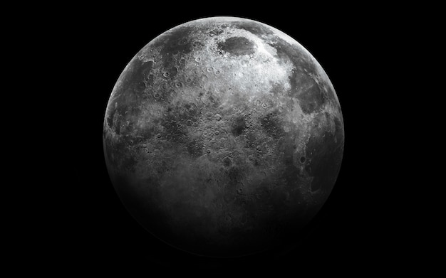 Maan in de ruimte, 3d illustratie. Premium Foto