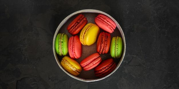 Macaroon, amandelcake koekjes Premium Foto