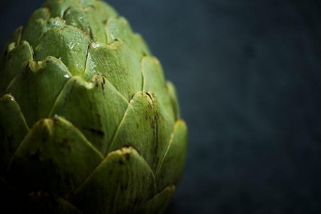 Macro-opname van artisjok groente Gratis Foto