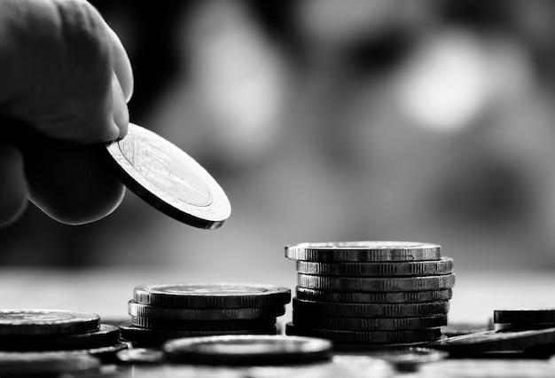 Macro van financieel concept wordt geschoten dat Gratis Foto