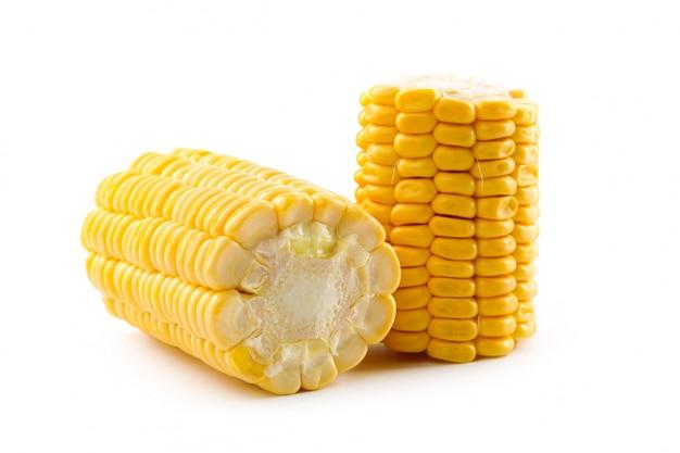 Maïs op een witte Premium Foto