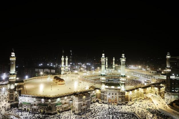 Makkah kaaba heilige moskee Premium Foto