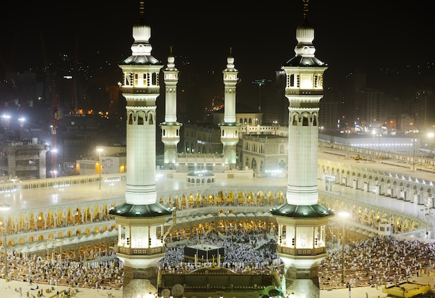 Makkah kaaba minaretten Premium Foto
