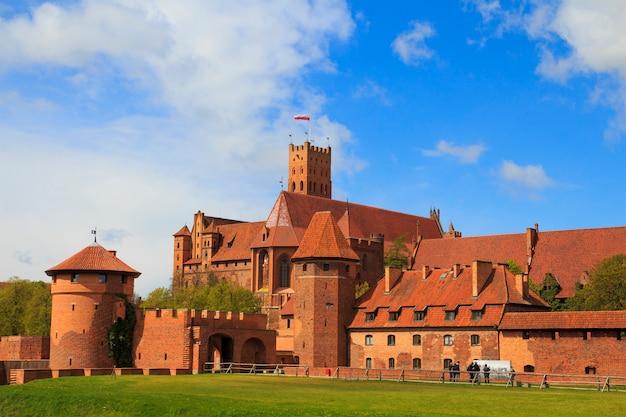 Malbork-kasteel in het gebied van pomerania van polen. Premium Foto