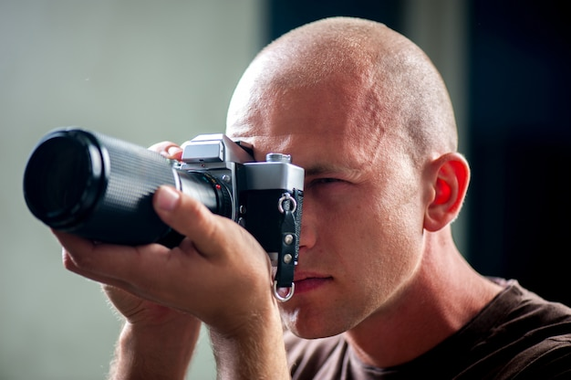 Man fotograferen Premium Foto
