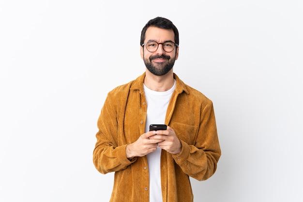 Man met bril en geel shirt Premium Foto