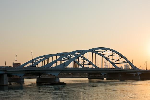Maqta bridge, abu dhabi, verenigde arabische emiraten Premium Foto