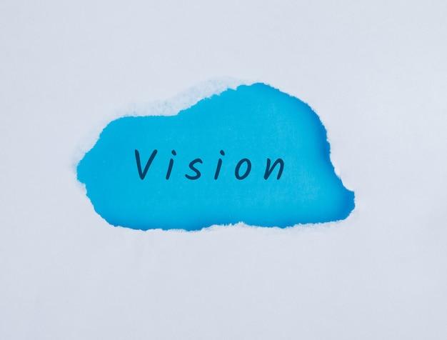 Marketingconcept met platte visie woord, lag. Gratis Foto