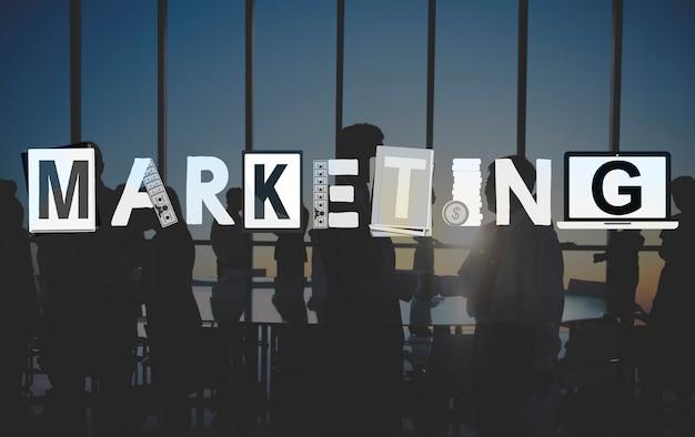 Marketingstrategie business commerce solution concept Gratis Foto
