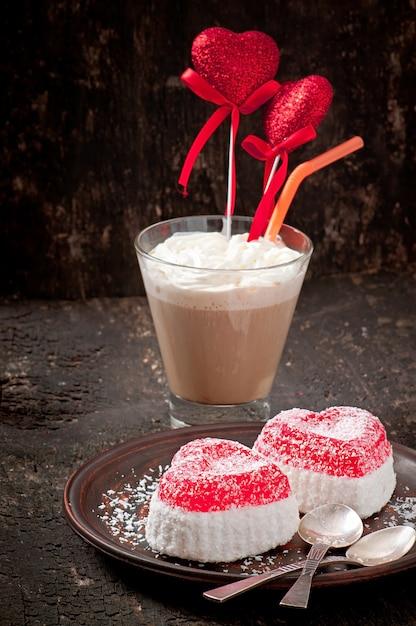 Marmelade in hartvorm Gratis Foto