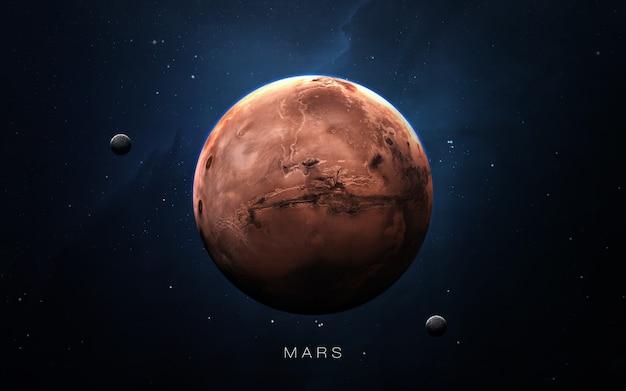 Mars in de ruimte, 3d illustratie. . Premium Foto