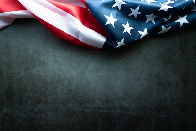 Martin luther king day anniversary - amerikaanse vlag op abstracte achtergrond Premium Foto