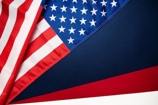 Martin luther king, jr. day anniversary - amerikaanse vlag Premium Foto