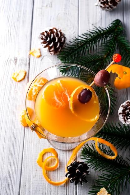 Martini in een glas nieuwjaar Premium Foto