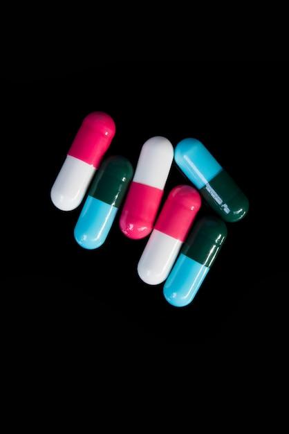 Medicijnen in het zwart Gratis Foto