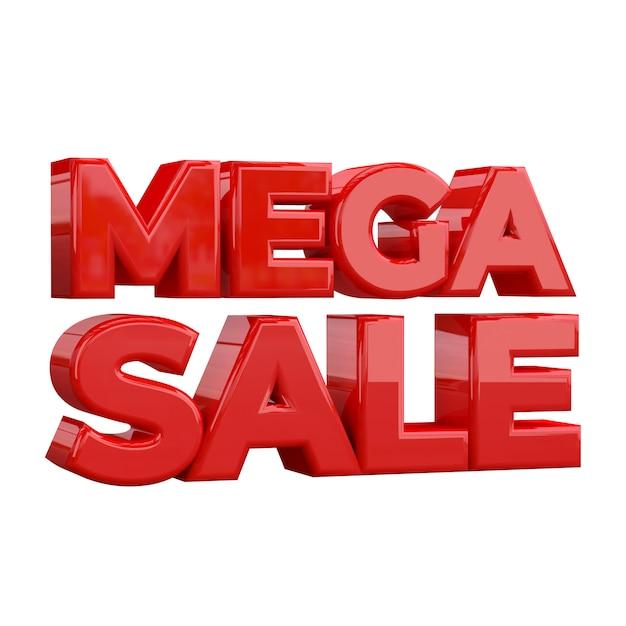 Mega sale banner sjabloonontwerp, speciale promotie Premium Foto