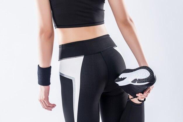 Meisje in sportwear Premium Foto