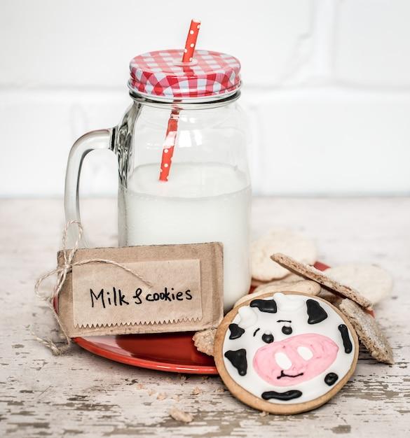 Melk en babykoekjes Gratis Foto