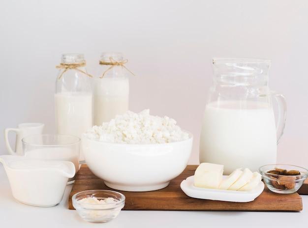 Melk, kwark en zuivelproducten Gratis Foto