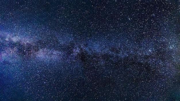 Melkweg sterrenhemel Premium Foto