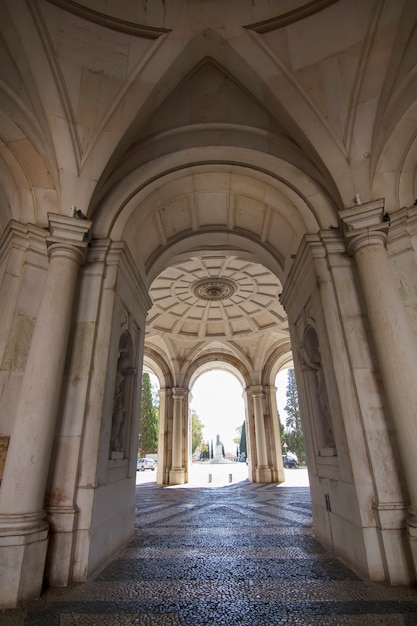 Mening van het mooie die paleis ajuda in lissabon, portugal wordt gevestigd. Premium Foto