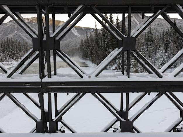 Mening van structuur met bergketen op de achtergrond, alaska-weg, noordelijke rockies regionaal m Premium Foto
