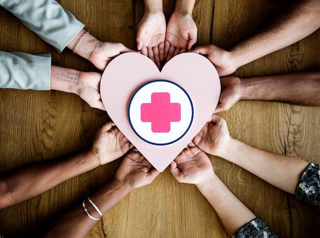 Mensen met een hart Premium Foto
